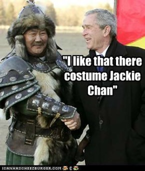 """I like that there costume Jackie Chan"""