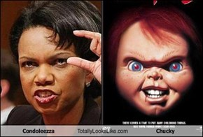 Condoleezza Totally Looks Like Chucky