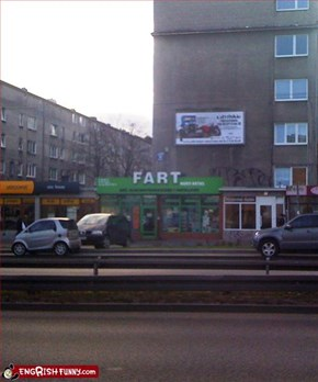 Fart shop in Gdynia, Poland
