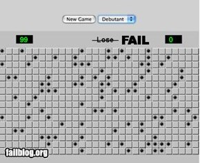 Minesweeper Game Fail