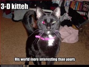 3-D kitteh