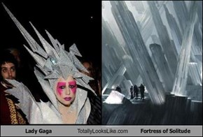 Lady Gaga Totally Looks Like Fortress of Solitude