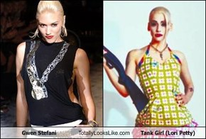 Gwen Stefani Totally Looks Like Tank Girl (Lori Petty)