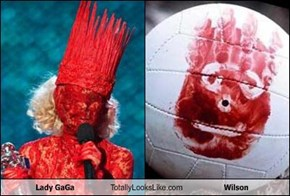 Lady GaGa Totally Looks Like Wilson