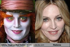 Johnny Depp as Mad Hatter Totally Looks Like Madonna