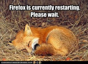 Firefox is currently restarting. Please wait.
