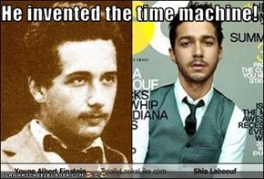 He invented the time machine!
