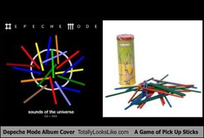 Depeche Mode Album Cover Totally Looks Like A Game of Pick Up Sticks