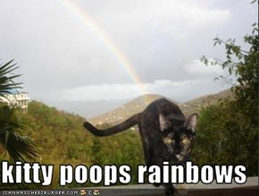 kitty poops rainbows