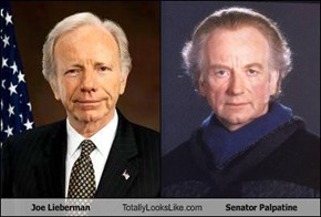 Joe Lieberman Totally Looks Like Senator Palpatine