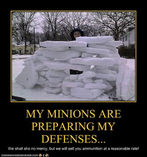 MY MINIONS ARE PREPARING MY DEFENSES...