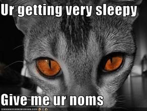 Ur getting very sleepy  Give me ur noms