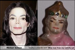 Michael Jackson Totally Looks Like Wise man from my nativity set