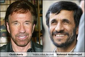 Chuck Norris Totally Looks Like Mahmoud Ahmadinejad