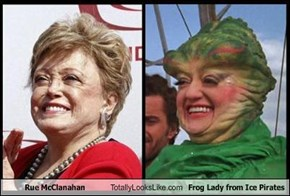 Rue McClanahan Totally Looks Like Frog Lady from Ice Pirates