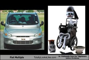 "Fiat Multipla Totally Looks Like Dr. Finklestein from the ""Nightmare before Christmas"