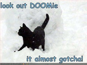 look out DOOMie     it almost gotcha!