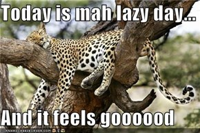 Today is mah lazy day...  And it feels goooood