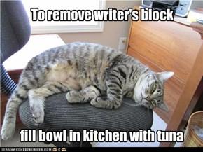 To remove writer's block