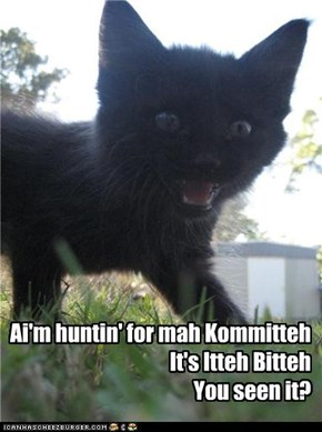 Ai'm huntin' for mah Kommitteh It's Itteh Bitteh You seen it?