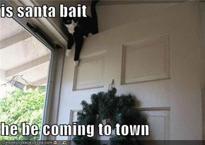 is santa bait  he be coming to town