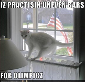 IZ PRACTISIN UNEVEN BARS  FOR OLIMPICZ