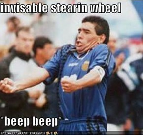 invisable stearin wheel  *beep beep*