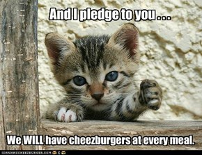 And I pledge to you . . .