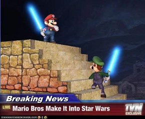 Breaking News - Mario Bros Make It Into Star Wars