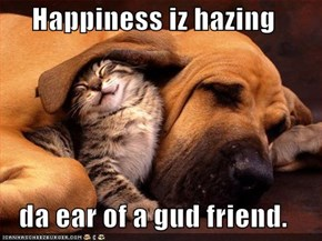 Happiness iz hazing  da ear of a gud friend.