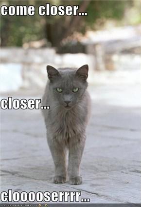 come closer... closer... clooooserrrr...
