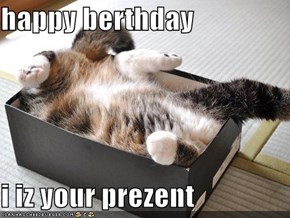 happy berthday  i iz your prezent