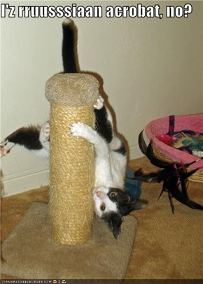 I'z rruusssiaan acrobat, no?