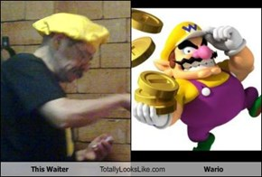 This Waiter Totally Looks Like Wario
