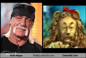 Hulk Hogan Totally Looks Like Cowardly Lion