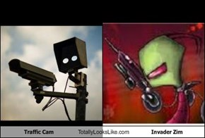 Traffic Cam Totally Looks Like Invader Zim