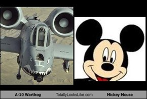 A-10 Warthog Totally Looks Like Mickey Mouse