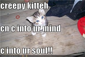 creepy kitteh  cn c into ur mind c into ur soul!!