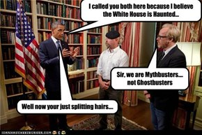 Who ya gonna call? ...Mythbusters!!