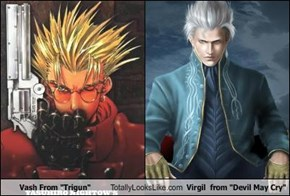 "Vash From ""Trigun"" Totally Looks Like Virgil  from ""Devil May Cry"""