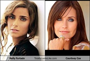 Nelly Furtado Totally Looks Like Courtney Cox