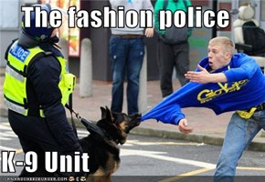 The fashion police  K-9 Unit