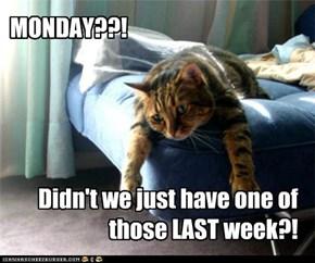 MONDAY??!