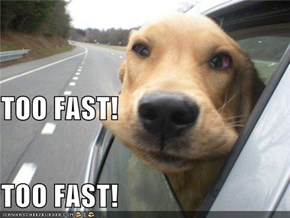 TOO FAST! TOO FAST!