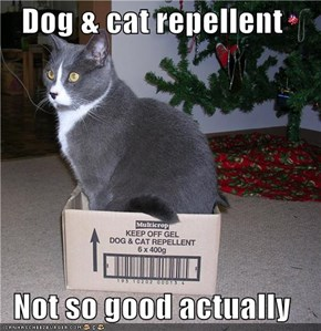 Dog & cat repellent  Not so good actually