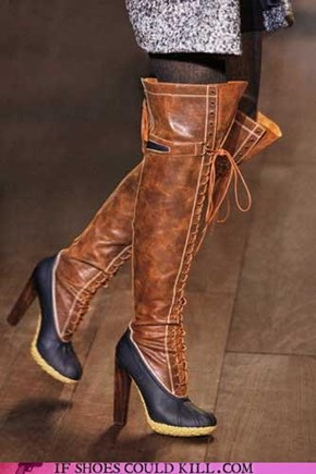 Thigh High Duck Boots