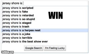Autocomplete Me: Jersey Shore Win