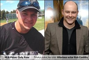 MLB Player Cody Ross Totally Looks Like Hilarious actor Rob Corddry