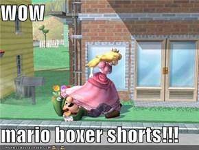 WOW  mario boxer shorts!!!