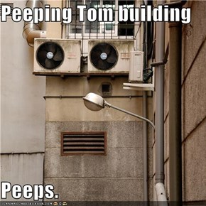 Peeping Tom building  Peeps.